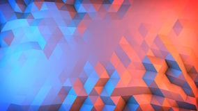 Low poly gradient surface abstract 3D render Stock Photos