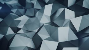 Low poly grey surface 3D rendering abstract background. Low poly grey surface. Abstract polygonal shape. 3D rendering with DOF stock illustration