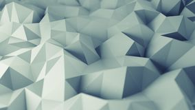 Low poly grey surface 3D rendering. Low poly grey surface. Abstract polygonal shape. 3D rendering with DOF royalty free illustration