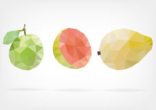 Low Poly Guava fruit. Vector illustration of Guava fruit in low poly design Royalty Free Stock Photography