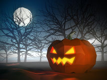 Low poly Halloween scene Stock Image
