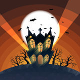 Low Poly Haunted House. Vector illustration of low-polygonal haunted house Stock Image