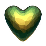 Low poly heart with iridescent material isolated Stock Images