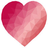 Low poly heart Royalty Free Stock Images
