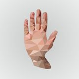 Low poly hend Stock Photography