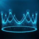 Low poly Illustration Crown Consists of Lines, Dots and Shapes, 3D Rendering. Low poly Illustration Crown Consists of Lines, Dots and Shapes. 3D Rendering Royalty Free Stock Image