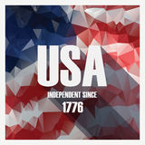 Low poly independence day modern design poster. American holiday. Stock Image