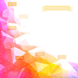 Low-poly infographics background Stock Photography