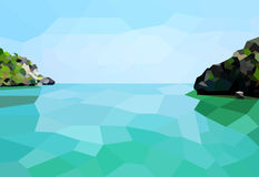Low poly the Island Stock Images