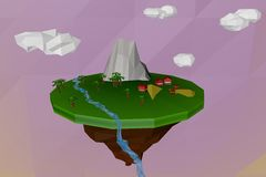 Low Poly Island Stock Images