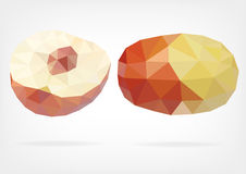 Low Poly Jujube fruit. Vector illustration of Jujube fruit in low poly design Stock Photography