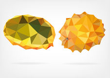 Low Poly Kiwano fruit. Vector illustration of Kiwano fruit in low poly design Royalty Free Stock Photo