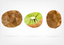 Low Poly Kiwi fruit Royalty Free Stock Photo