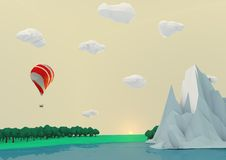 Low poly landscape Royalty Free Stock Photos
