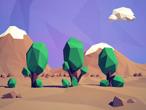 Low-poly   landscape Stock Image