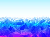 Low Poly Landscape Royalty Free Stock Photography