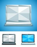 Low Poly Laptop Royalty Free Stock Photo