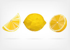 Low Poly Lemon fruit Royalty Free Stock Photography