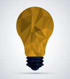 Low Poly light bulb design Royalty Free Stock Photography