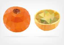 Low Poly  Lulo or Naranjilla fruit. Vector illustration of  Lulo or Naranjilla fruit in low poly design Stock Images