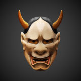 Low poly mask Noh theater Hannya Side light Royalty Free Stock Image