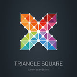 Low-poly mesh. Modern stylish logo. Design element with squares, Royalty Free Stock Photography
