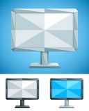 Low Poly Monitor Royalty Free Stock Photo