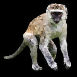 Low poly monkey Royalty Free Stock Photography