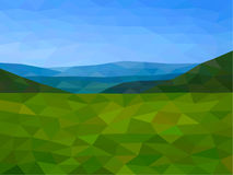 Low poly mountains with blue sky. Low poly vector mountains with blue sky Royalty Free Stock Images