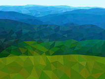 Low poly mountains with blue sky. Low poly vector mountains with blue sky Stock Photography