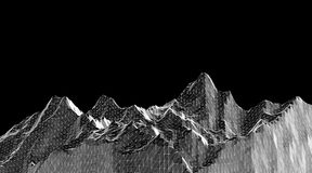 Low poly mountains landscape. Polygonal background. Low poly mountains landscape. Polygonal shapes peaks. 3d illustration. dark space triangle mosaic background Stock Photos