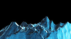 Low poly mountains landscape. Polygonal background. Low poly mountains landscape. Polygonal shapes peaks. 3d illustration. dark space triangle mosaic background Stock Images