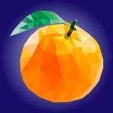 Low poly orange  illustration. Vector illustration orange, polygonal orange, low poly Stock Photography