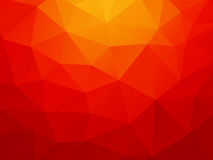 Low poly orange red background Royalty Free Stock Image