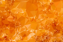 Low Poly Orange Triangular Abstract Background Stock Photo