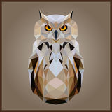 Low poly Owl Stock Photography
