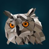 Low poly owl royalty free illustration