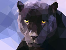 Low poly panther illustration wallpaper Stock Photography