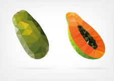 Low Poly Papaya fruit Stock Photography