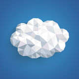 Low Poly Paper Cloud Striped Blue Sky Stock Photography