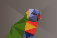 Low poly parrot Royalty Free Stock Photo