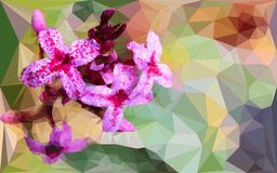 Low poly of pink flower Stock Photography