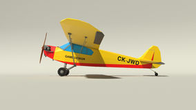 Low poly plane. Side view 3d render low poly plane Stock Image