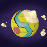 Low poly planet earth Royalty Free Stock Photos