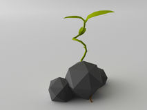 Low poly plant Royalty Free Stock Image
