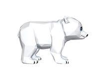 Low poly Polar bear cub. Polar bear cub. Low poly 3D image royalty free illustration