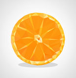 Low poly polygon orange fruit sliced Royalty Free Stock Photo