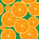 Low poly polygon sliced fruit orange seamless texture pattern Royalty Free Stock Image