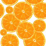 Low poly polygon sliced fruit orange seamless texture pattern Royalty Free Stock Photography