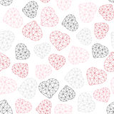 Low-poly polygonal background. Valentine's Day. Royalty Free Stock Images